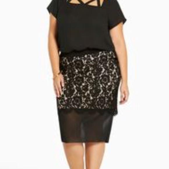 209bde34e2 torrid Skirts | Salebeautiful Lace Floral Skirt Size 2224 | Poshmark